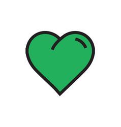 Heart icon cartoon green color vector