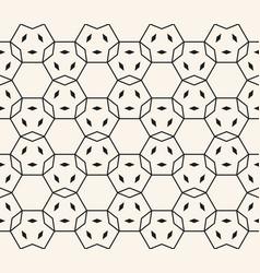 hexagonal grid lattice net seamless pattern vector image