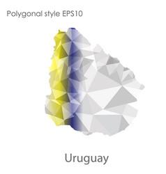 Isolated icon uruguay map polygonal geometric vector