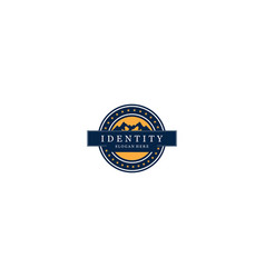 label mountain creative business logo design vector image