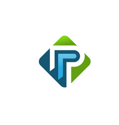 Letter p logo concept vector