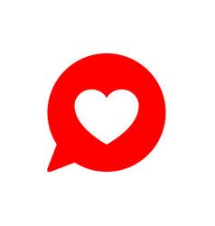 Like social network icon in heart shape on white vector