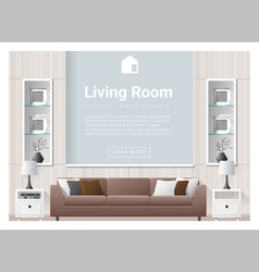 Living room Interior background 3 vector image