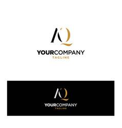 Logo design for initials letters aq vector
