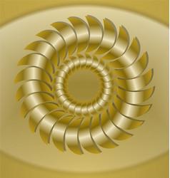 Luxurious golden tile with rosette patterns 3d vector