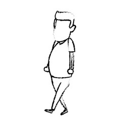 man avatar standing character male icon vector image
