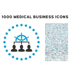 Management icon with 1000 medical business vector