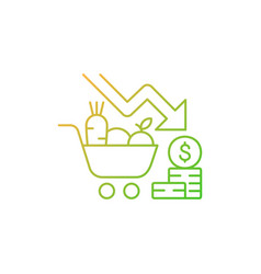 Marketing risks gradient linear icon vector
