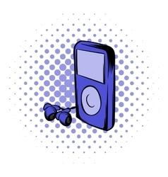 Media player comics icon vector image