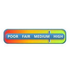 Medium credit score icon cartoon style vector