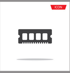 memory icon ram icon isolated on white vector image