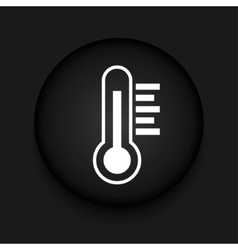 modern thermometer black circle icon vector image