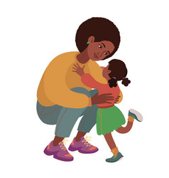 mom and daughter family portrait african-american vector image
