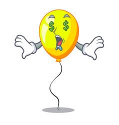Money eye yellow balloon isolated on for mascot vector