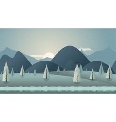 mountain seamless background vector image
