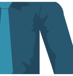 Necktie shirt blue cloth male man icon vector