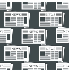 Newspaper background vector image vector image