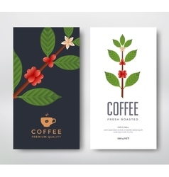 Packaging design coffee vector