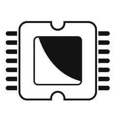 Phone processor icon simple style vector
