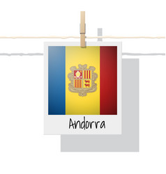 Photo of andorra flag vector