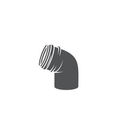 Plumber pipe glyph icon vector