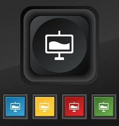Presentation billboard icon symbol Set of five vector
