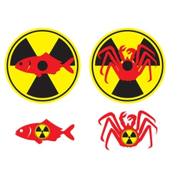 Radioactive fish vector
