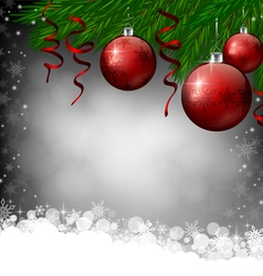 Red Christmas decoration on grey background vector
