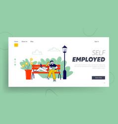 remote freelance work self-employment website vector image