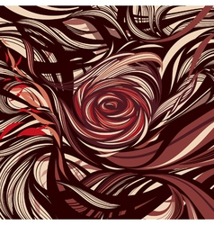 Rose - Abstract modern design vector image