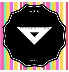 Ruler triangle icon vector
