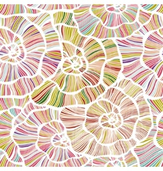 Seamless color floral background vector image