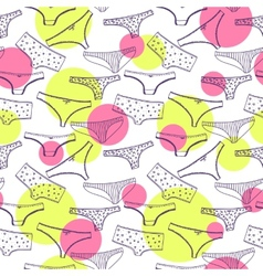 Seamless pattern wirh underclothes violet panties vector image