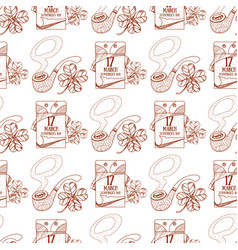 Seamless pattern with a pipe and a tear-off vector