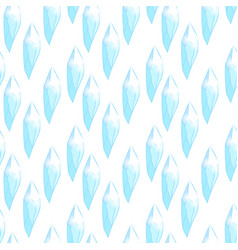 seamless pattern with blue crystals vector image