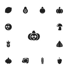 Set of 13 editable kitchenware icons includes vector