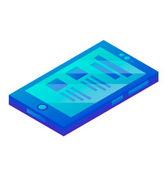 smartphone finance icon isometric style vector image