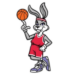 Sporty look basketball rabbit vector