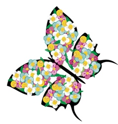 Spring butterfly 3 vector