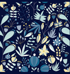 Summer seamless pattern with lovely blooming vector