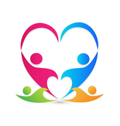 teamwork family people caring and loving each vector image