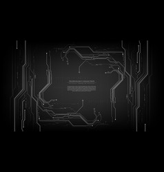 Technology futuristic abstract grey circuit vector