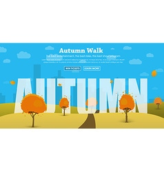 Template header of the site with the autumn vector