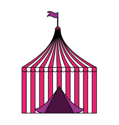 tent circus carnival vector image