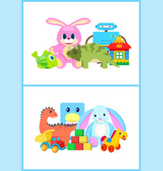 toys for kids collection vector image