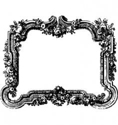 Victorian floral frame vector image
