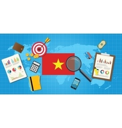 vietnam economy economic condition country with vector image
