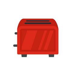 Vintage toaster icon flat style vector