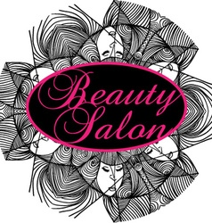 Beauty Salon Cover with Abstract beautiful woman vector image