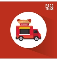 Colorful food truck design vector image vector image